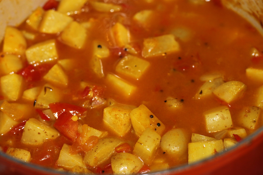 Potato curry with water