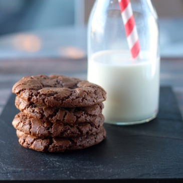 Caramel and Double Chocolate Chip Cookies