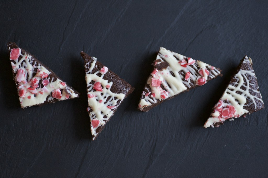 Chocolate and Mint Triangles